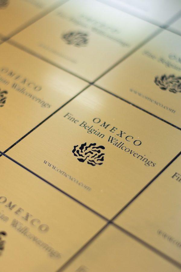 Glossy label goudafwerking